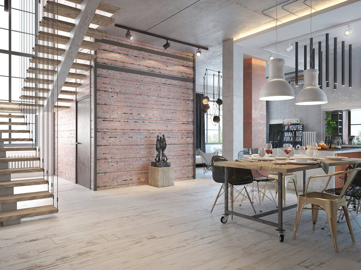 Roohomecom An industrial house design with