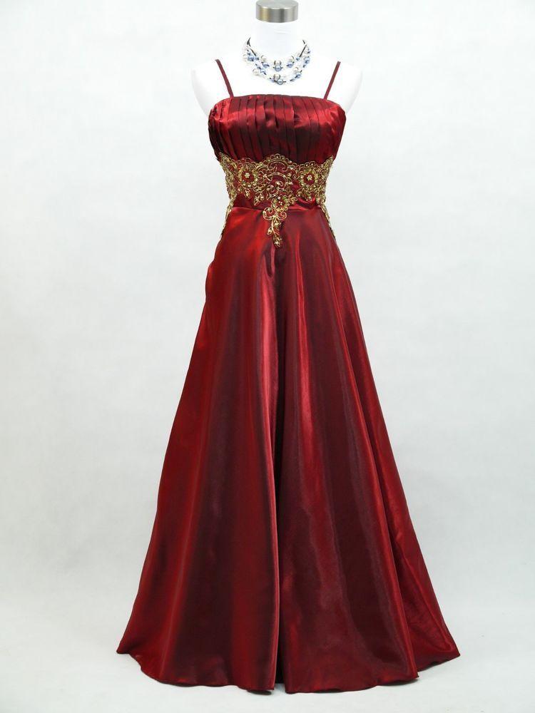 Cherlone Plus Size Red Long Ballgown Bridesmaid Formal Wedding ...