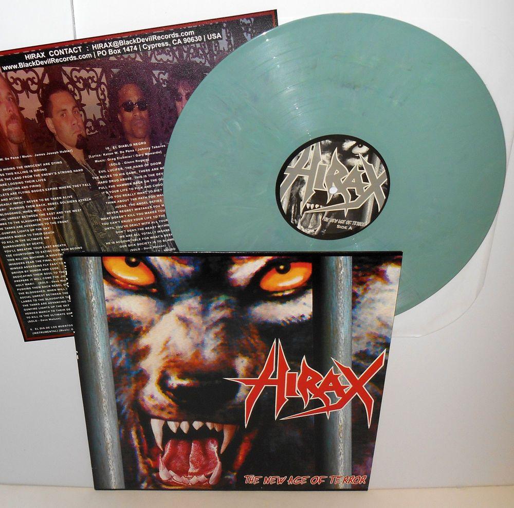 Hirax The New Age Of Terror Lp Record Light Green Vinyl W Lyrics Insert Deep Six Vinyl Vinyl Records Lp Vinyl