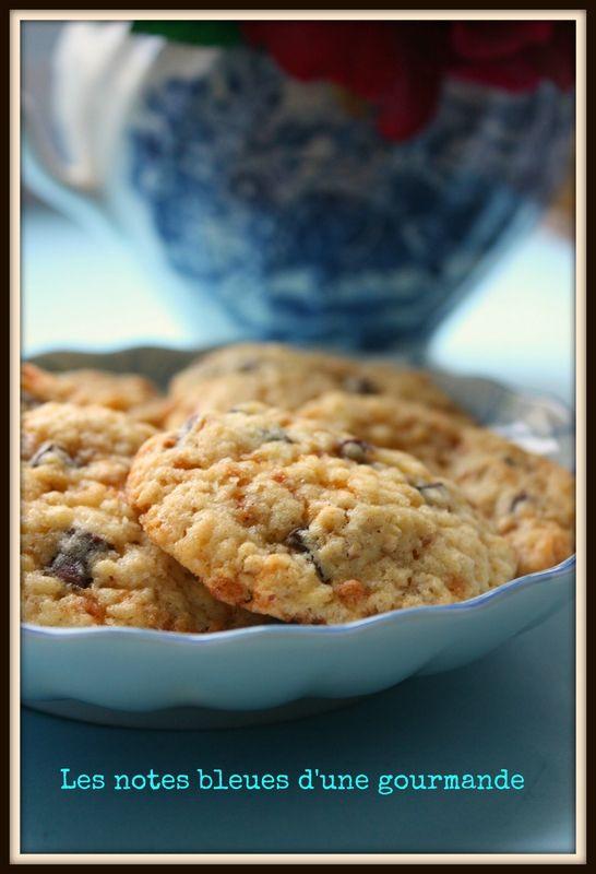 Cookies au pralin et aux trois chocolat