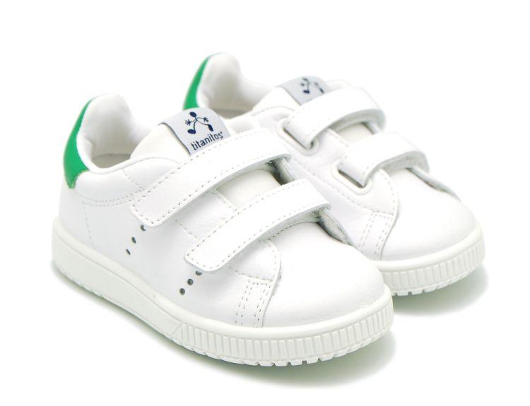Tienda online de calzado infantil Okaaspain. Zapatilla de piel lavable  Titanitos con doble velcro y 7a0c17c427e