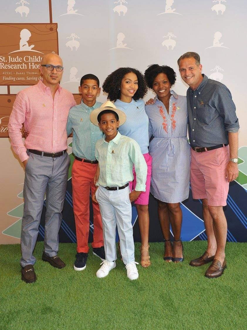 Shahidi Family With Arthur Wayne Brooks Brothers Beverly Hills Summer Camp Party