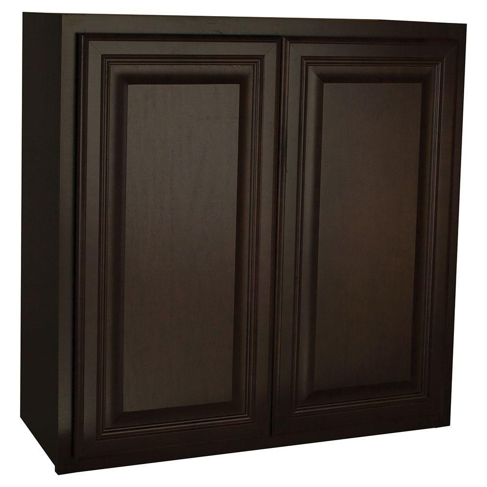 assembled 30x30x12 in cambria wall cabinet in java products in rh pinterest com