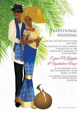 Ije love nigerian igbo traditional wedding invitation pinterest nigerian traditional wedding invitation card stopboris Image collections