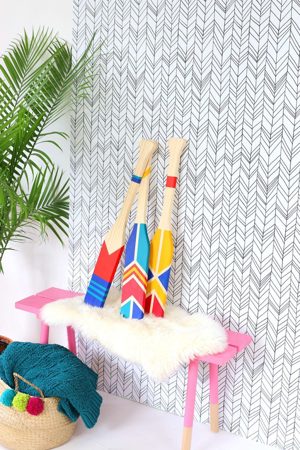 DIY Painted Oars Home Decor   Crafts & DIY Ideas   Pinterest ...