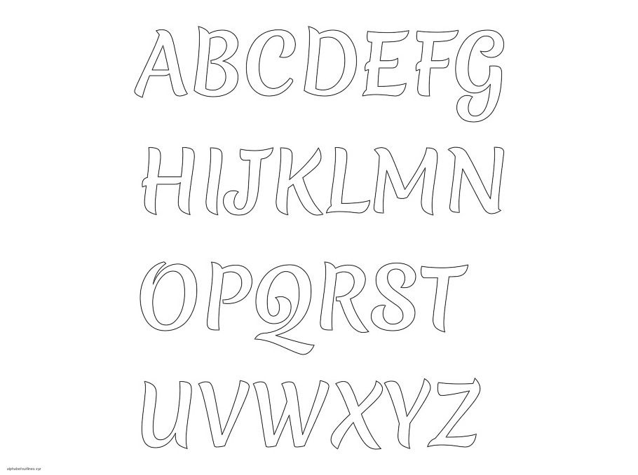 Brush Hand Free Alphabets Capital  Fonts    Printable