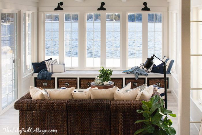 Lake House Sunroom It S Done Lilypad Cottages Lake House