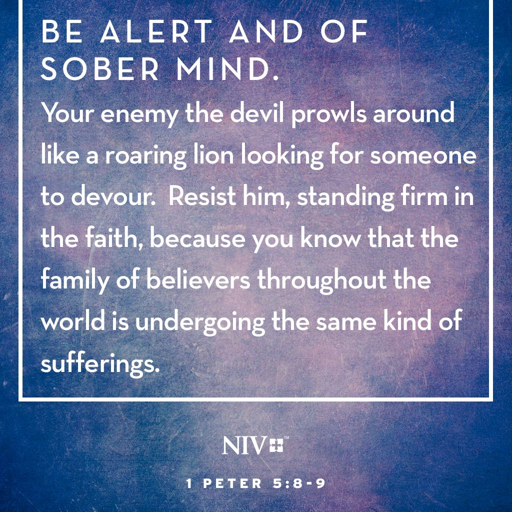 Niv Bible Verse About Being Alert To The Schemes Of The Enemy