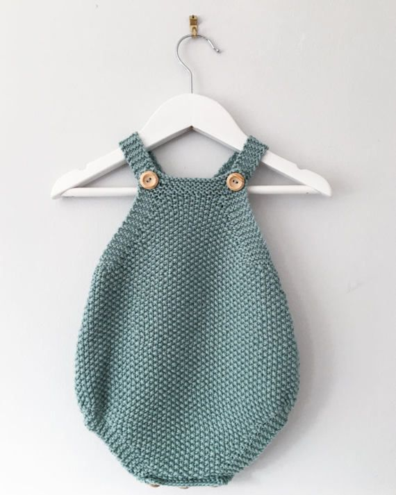 7139cab0febb Baby Romper Knitting Pattern - Mio Knitted Playsuit PDF Knitting ...