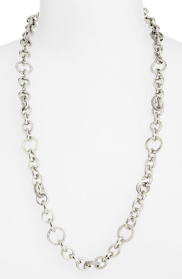 Michael Kors 'Statement Brilliance' Pavé Link Necklace
