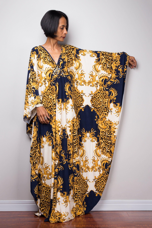Boho Kaftan Dress Long Loose Fitting Maxi Frock Dress Evening Dress With Bohemian Print Fu1p Kaftan Dress Frock Dress Maxi Frocks [ 3000 x 2000 Pixel ]