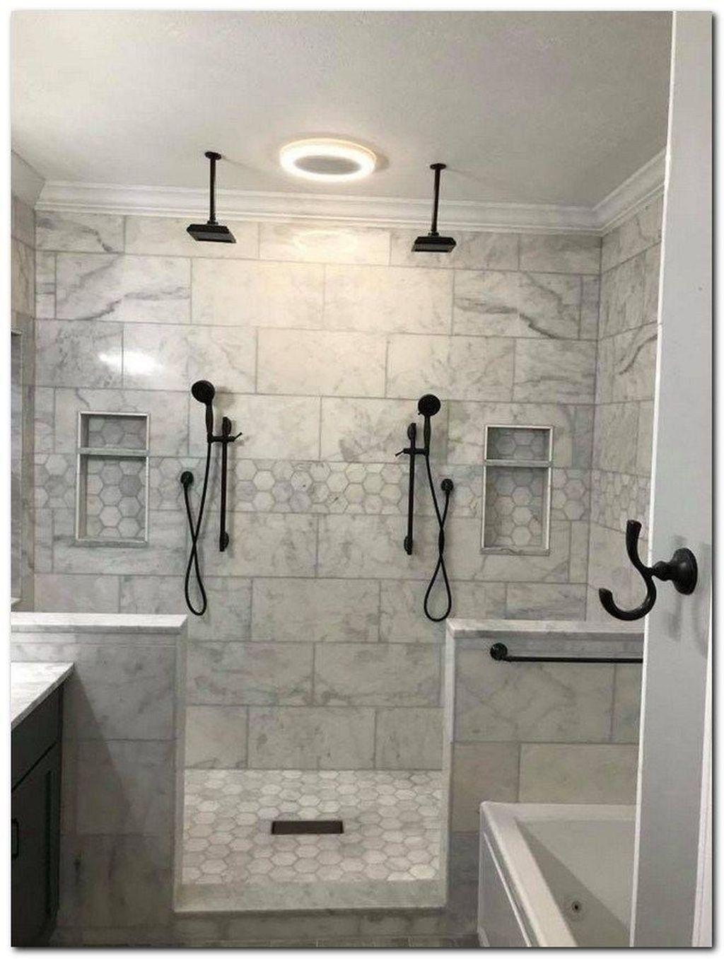 8 Remarkable Cool Tips Large Shower Remodel Ideas Shower Remodeling Ideas Wood Tiles Shower Remo In 2020 Bathroom Remodel Shower Master Bathroom Shower Shower Remodel