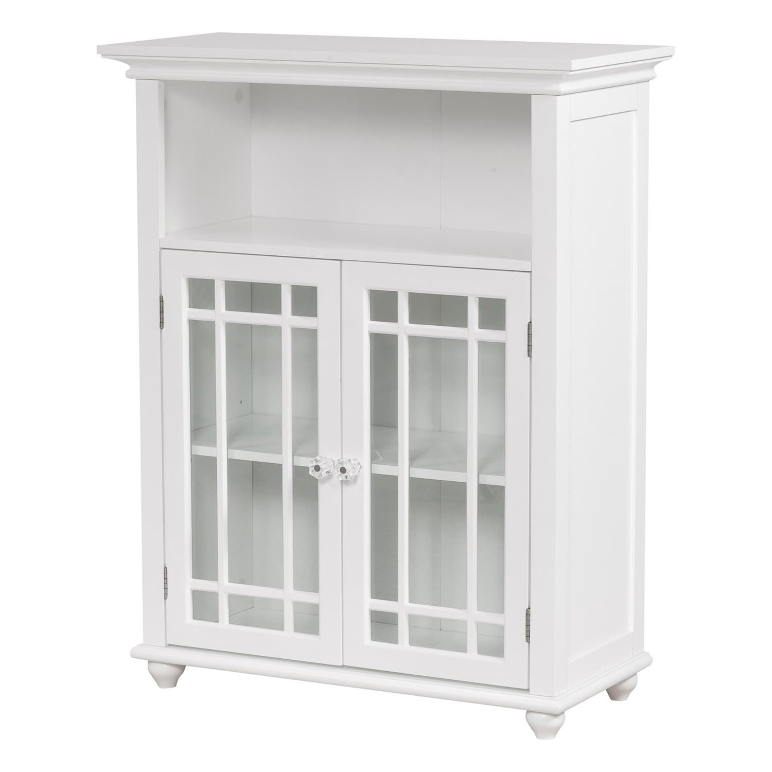 Stripe 2 Door Floor Cabinet By Elegant Home Fashions White Mdf Bathroom Floor Cabinets Glass Cabinet Doors Small White Bathrooms
