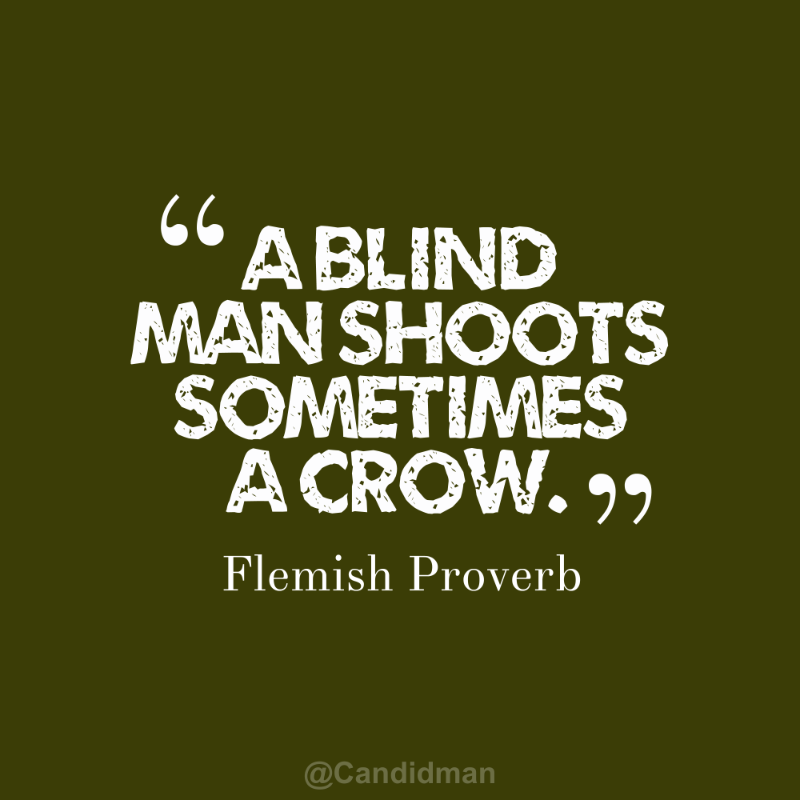 "Images About Blind Men Quotes: ""A Blind Man Shoots Sometimes A Crow"". #Quotes #Flemish"