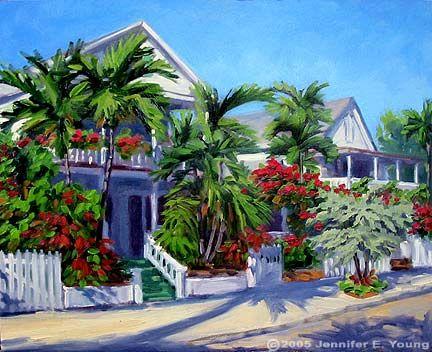 tropical painting of key west florida keys in 2019 art tropical rh pinterest com