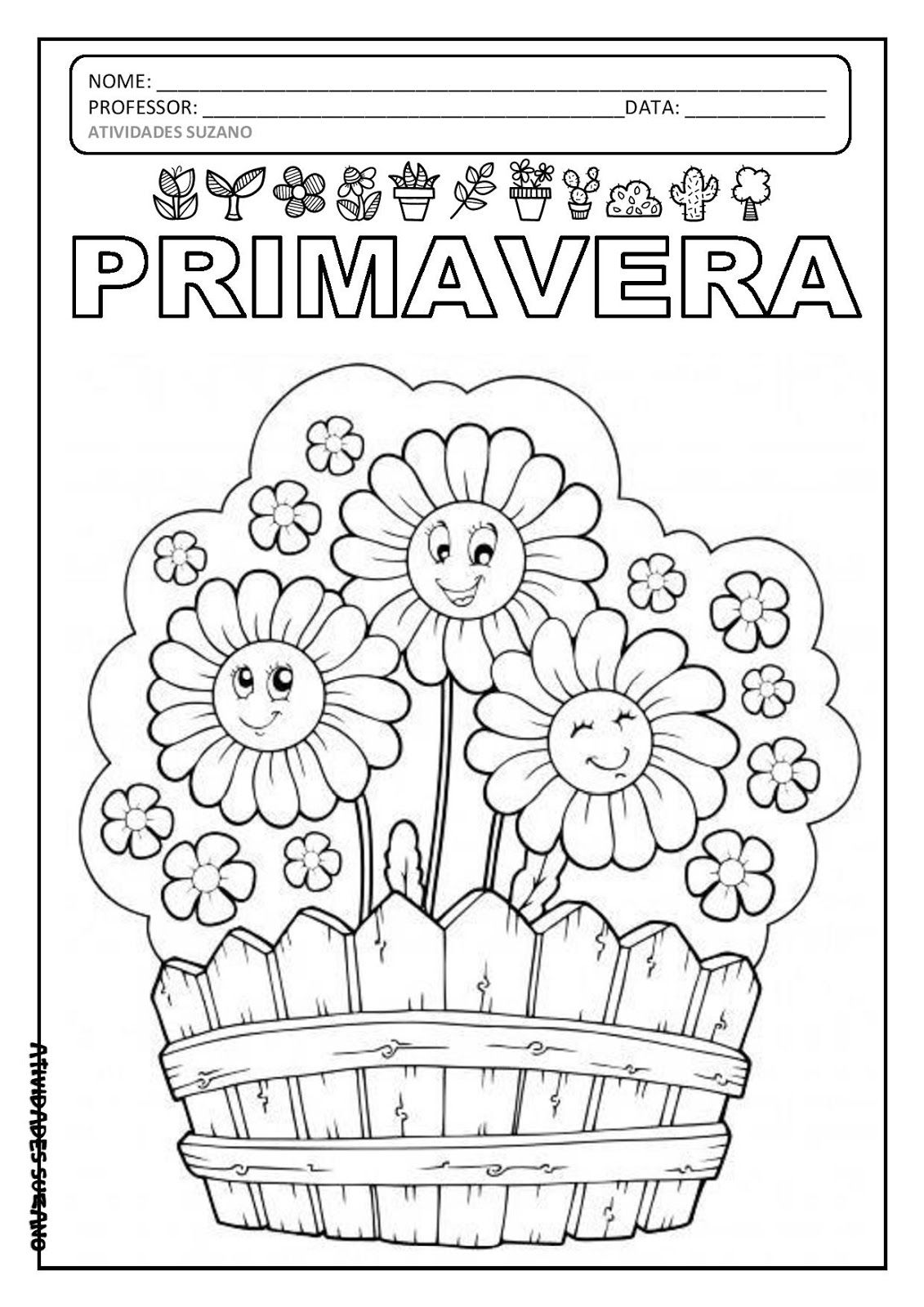 Desenhos Para Colorir Primavera Com Imagens Flores Para Colorir