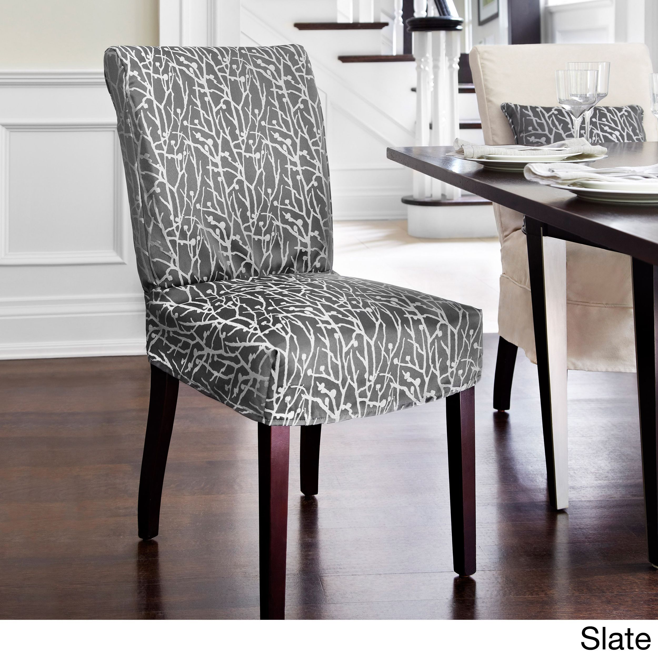 westwood dining chair relaxed fit slipcover with buttons products rh pinterest co uk