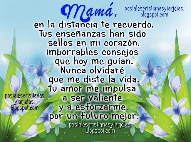 Mama En La Distancia Te Recuerdo Feliz Dia De La Madre Para Mi