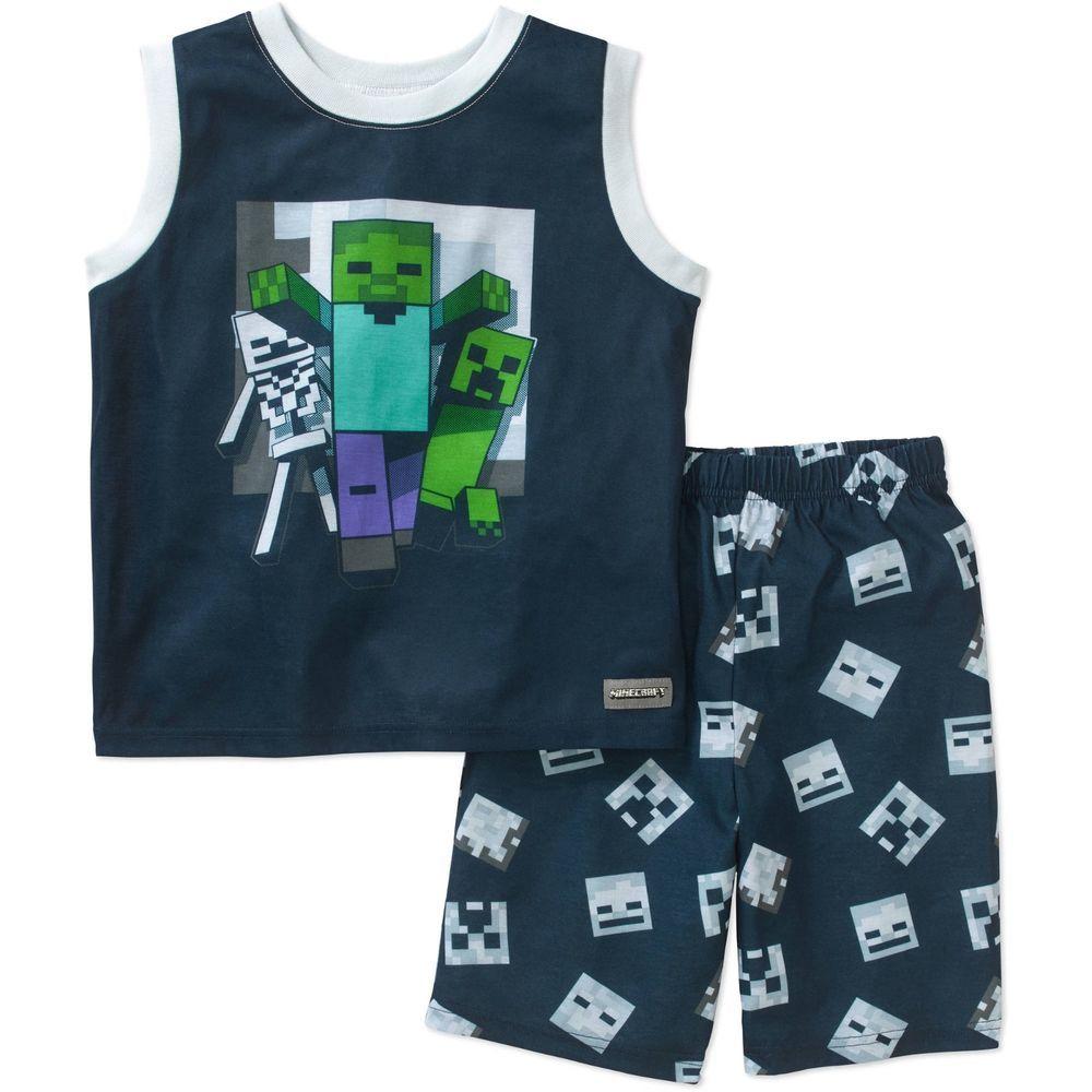 Boys minecraft game 2pc pajamas set size 45 new with tags