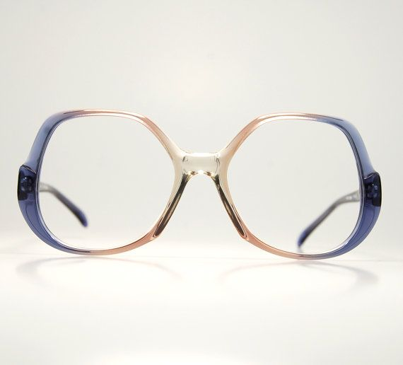 1406a52868 70 s Deadstock Oversize Eyeglasses Clear Purple Pink by thenovelty ...