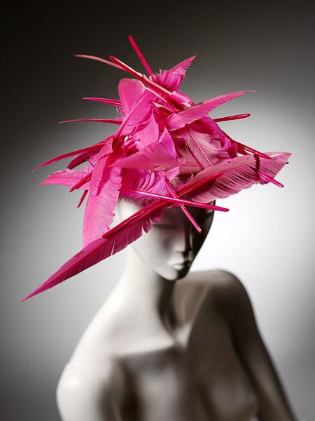 00c01f6d360 Philip Treacy  1995...quite like the butterfly piece he made for Alexander  McQueen...except with feathers!