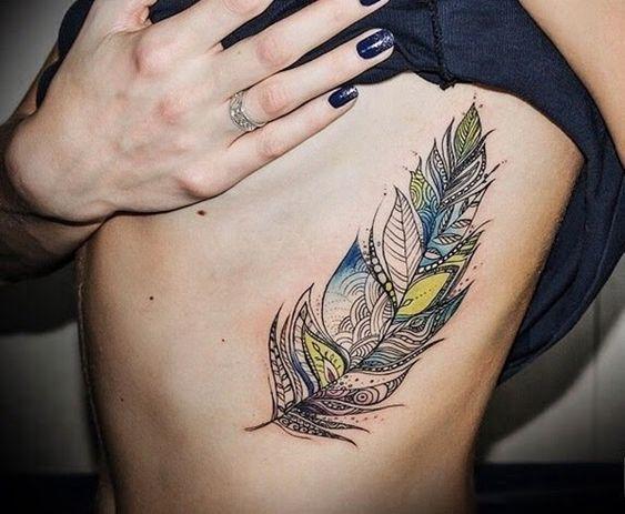 35 belles conceptions et significations de tatouage de plume | Tatouage plume, Tatouage, Modele ...
