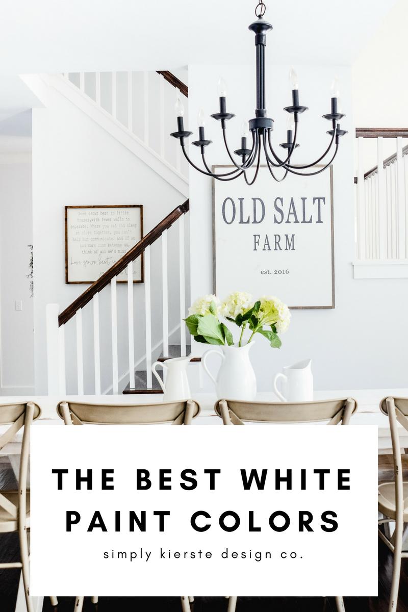the best white paint colors farmhouse style decor white paint rh pinterest com