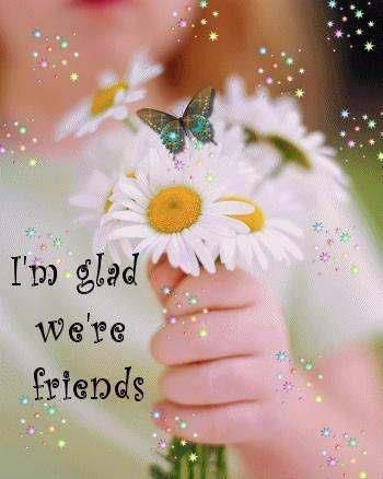 I'm glad we're friends | I Love You | Friendship flowers, Thank