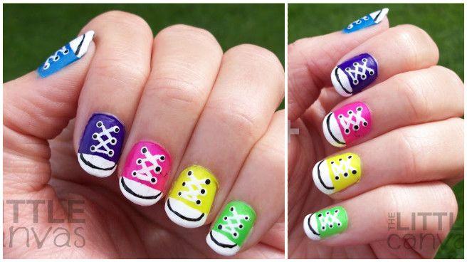 diy converse nail art design ideas and tutorials fab art diy rh pinterest com