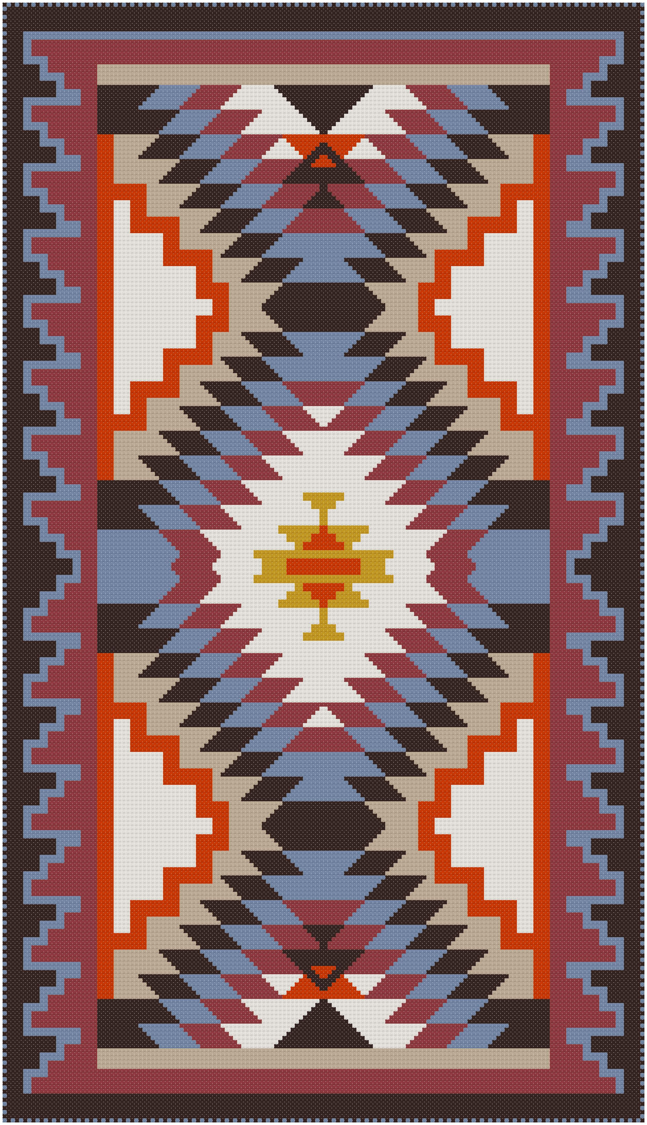 Teppich Knüpfen Muster This Cross Stitch Pattern Features A Design Taken From A