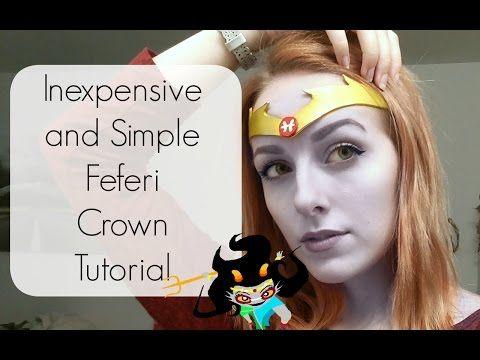 Easy DIY Feferi Crown  Tiara Tutorial | Homestuck Cosplay - YouTube