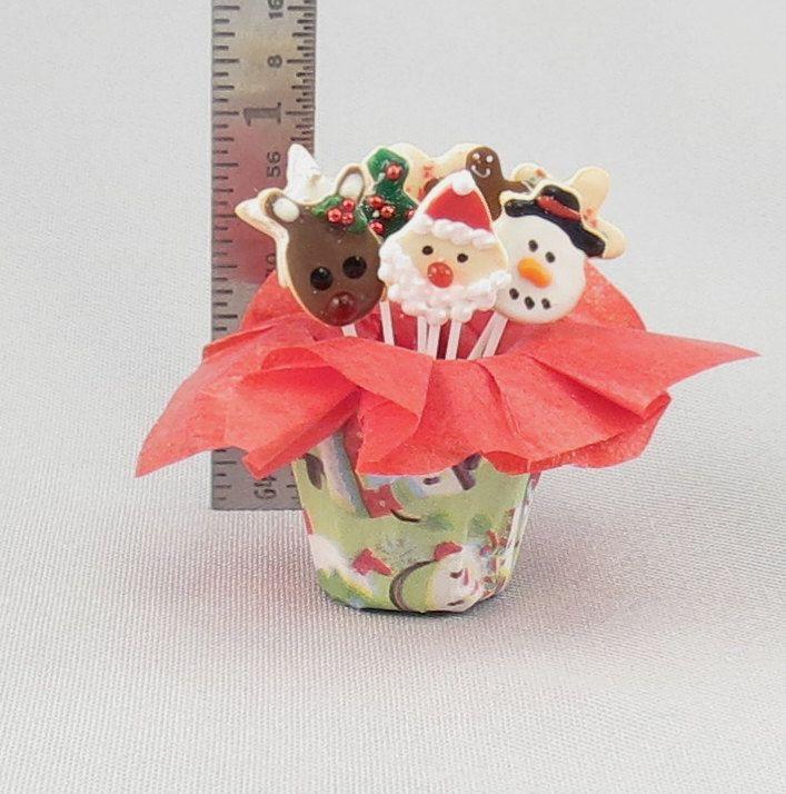 Dollhouse Miniature Christmas Cookie Bouquet. via Etsy.