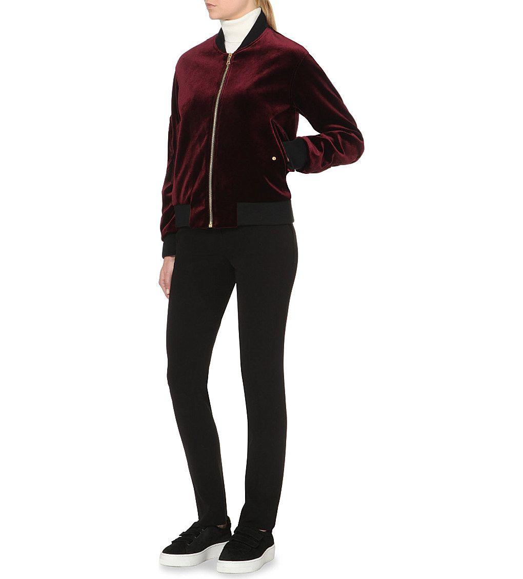 SANDRO Ventura velvet jacket (Burgundy