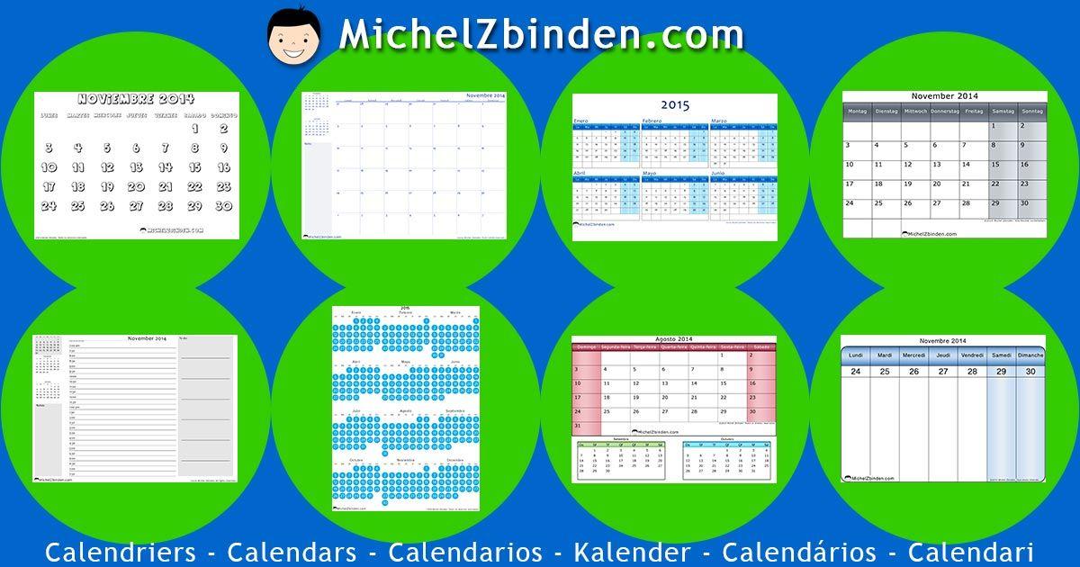 Kalender 2014, 2015 und 2016 | Kostenlos zum ausdrucken | PDF oder ...