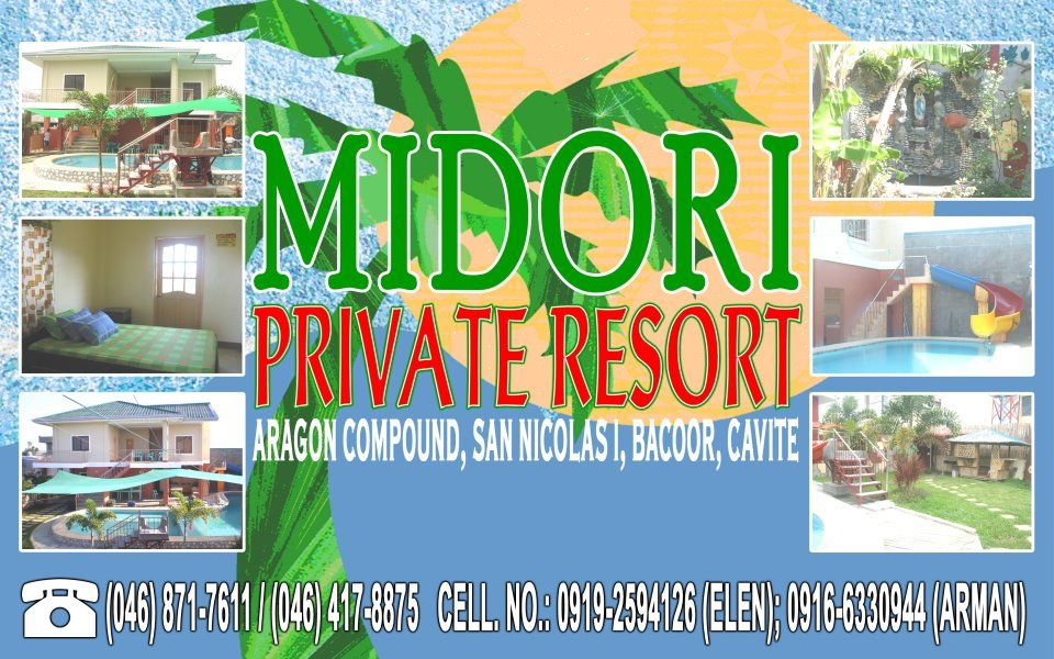 Midori Private Resort Address Aragon Compoun San Nicolas Bacoor Cavite Private Swimming
