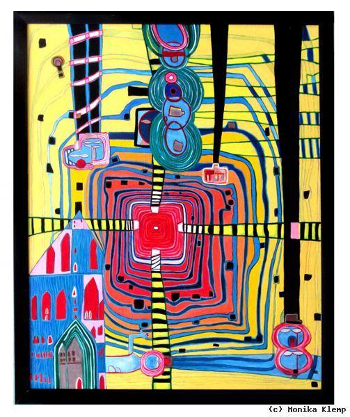 Malen Wie Hundertwasser Vii Von Monika Klemp At Artists De Kunstler Kunst Und Kunstwerke Hundertwasser Inspirierende Kunst Moderne Abstrakte Kunst