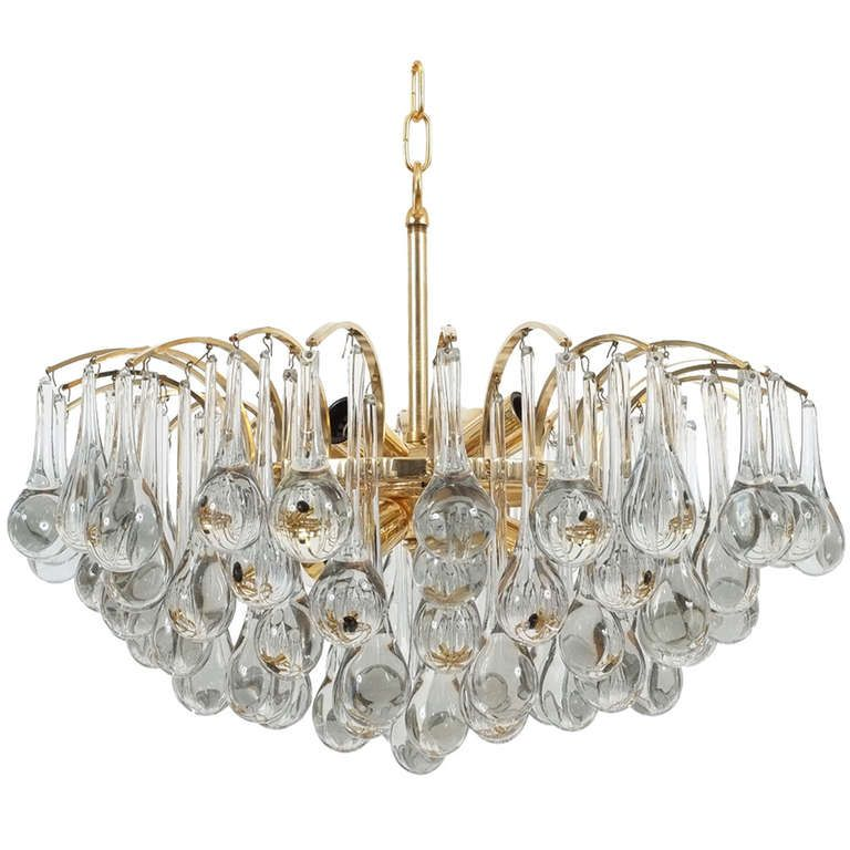 Delicate Murano Glass Tear Drop Chandelier From A Unique