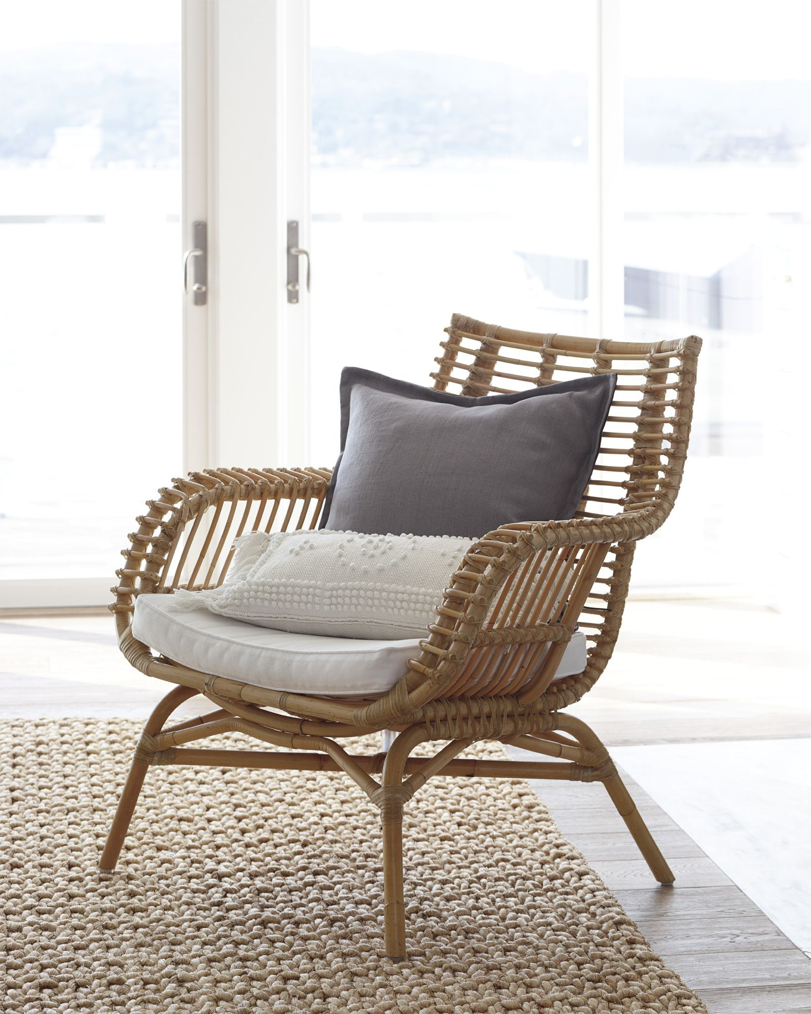 The Statement Chair Venice Rattan Chair And Twisted Abaca Rug Via