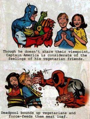 Deadpool and vegetarians
