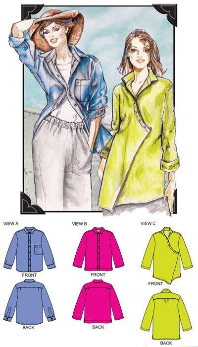 Great shirt pattern. | Sewing Patterns | Pinterest | Patterns and ...