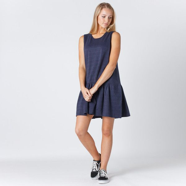 Huffer Polly Spec Dress - Navy
