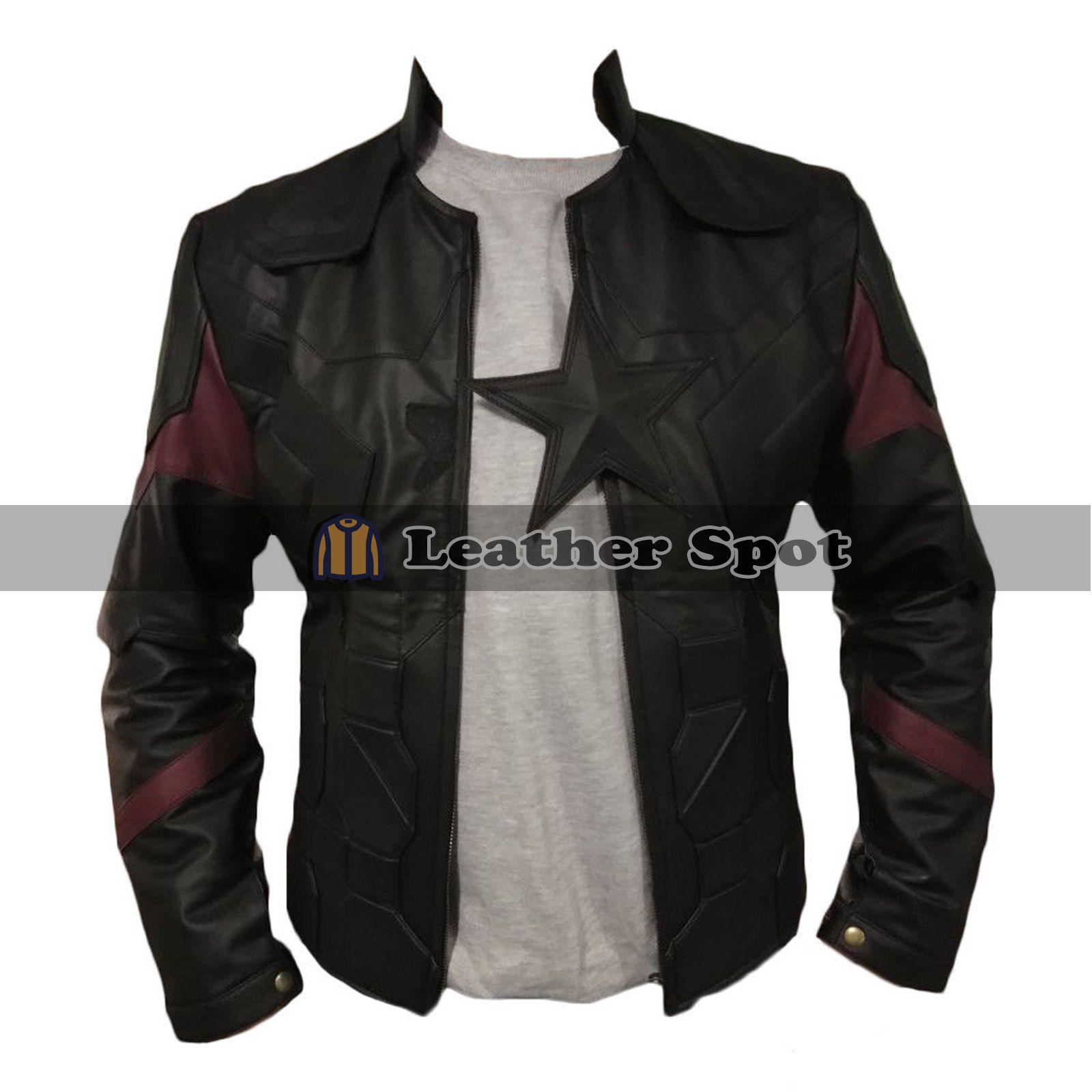 Captain America Avengers End Game Black Leather Jacket Lm Jackets Captain America Jacket Stylish Jackets Black Leather Jacket [ 1600 x 1600 Pixel ]