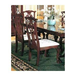 Set Of 2 Chippendale Style Cherry Finish Dining Chairs Review