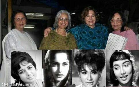 Friends forever. Nanda, Waheeda, Helen and Sadhana. Queens of the ...