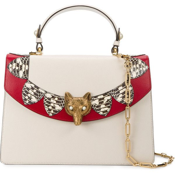 433eedf57714b Gucci Broche top handle bag (13.590 BRL) ❤ liked on Polyvore featuring bags,