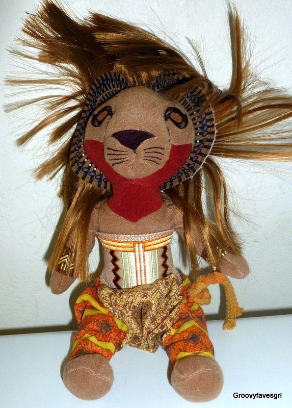 The Lion King Broadway Musical Simba Disney Plush Stuffed Animal 12