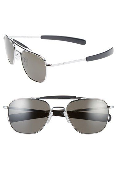 e0896b6bf189b Women s Randolph Engineering 55mm Polarized Aviator Sunglasses - Bright  Chrome  Grey Polar