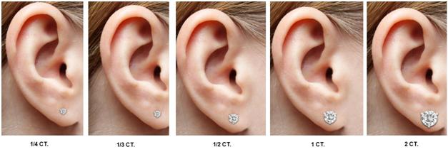 Diamond stud earrings also perfect holiday ts for women diy fyi rh pinterest