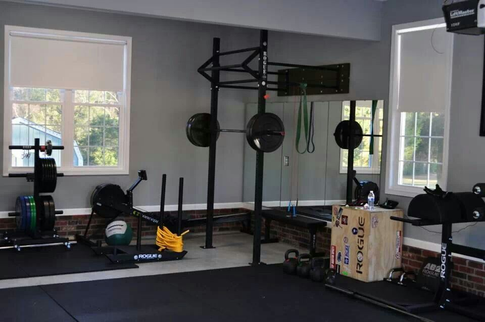 Home crossfit box basement crossfit ocd garage gym at home