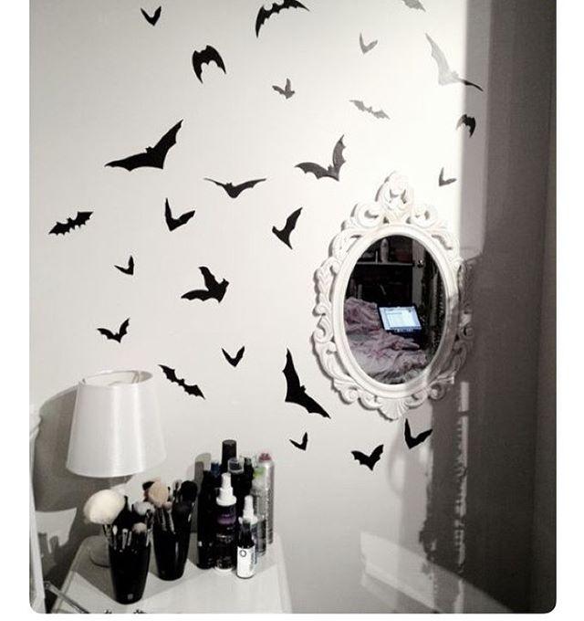 My Aesthetic Goth Gothic Gothroom Mirror Bat